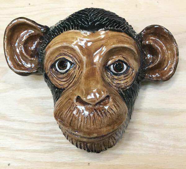 Beth DiCara: Chimp wall hanging