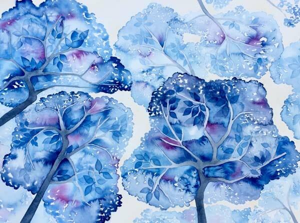 Charlotte Stanske: Tree Canopy of Blue