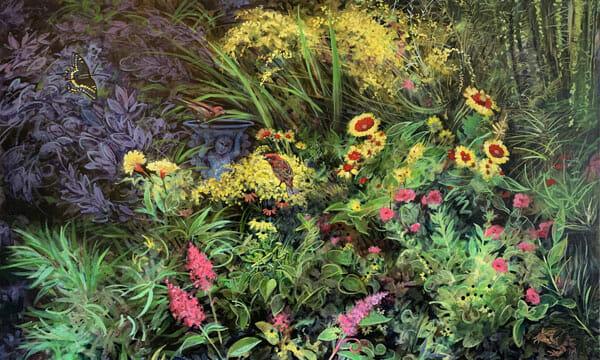 Daniel F. Gluibizzi: Summer Garden with False Indigo